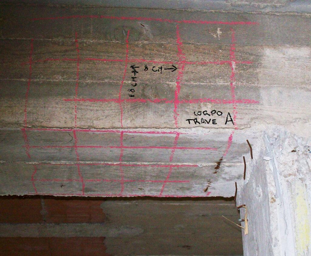 individuare il ferro negli elementi in calcestruzzo